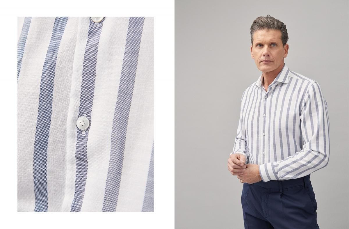9302dd41cce2 That is why among the new casual business shirts of the Xacus spring/summer  2019 collection we have a series of striped shirts made in an exclusive  Italian ...